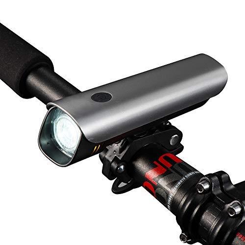 Fahrradlicht deutsche Straßenzulassung LED Fahrradbeleuchtung Samsung Li-Ion Akku USB aufladbar CREE LED Fahrradlampe Fahrrad Vorderlicht Sehr hell (60 Lux) StVZO zugelassen wasserdicht IPX4 - Bv Led