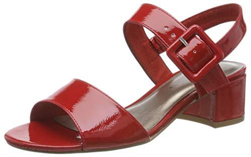 Tamaris 1-1-28211-22, Sandali con Cinturino alla Caviglia Donna, Rosso (Chili Patent 520), 38 EU