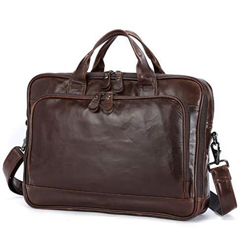 Laptop-Tasche für 13-15 Laptop-Aktentasche Wasserabweisende erweiterbare Computer-Tasche Business Messenger Bag Schultertasche für Schule/Reise/Männer-Coffee-OneSize -
