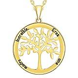 fddff75f8e4f SIMPORDS Collar para Mujer Chapado en Oro Colgante Árbol Familiar de la  Vida Regalo Madre