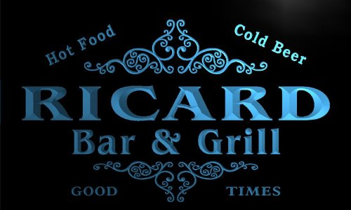 u37462-b-ricard-family-name-bar-grill-home-brew-beer-neon-sign-enseigne-lumineuse