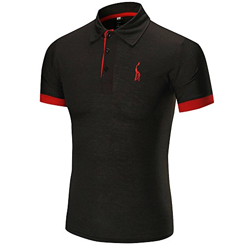 Ulanda-EU Mens T-Shirts Summer Short Sleeve Business Tops Casual Formal Regular Fit Blouse Designer for Men Shirts Clothes Clearance