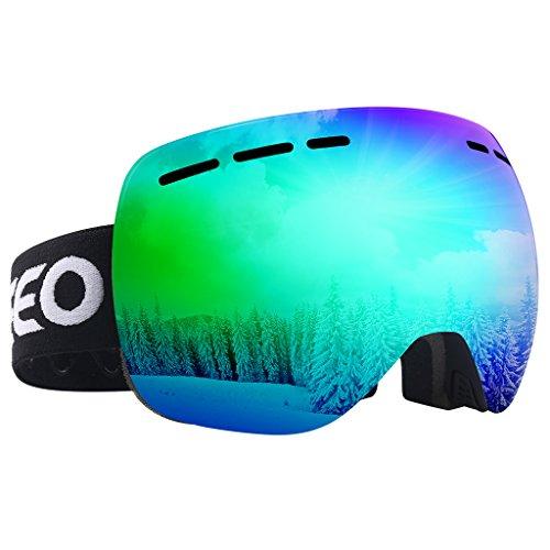 Enkeeo Skibrillen Magnat Snowboardbrille Dual-Layer Anti-Fog UV400 Schutz für Erwachsene und Kinder(Kind)