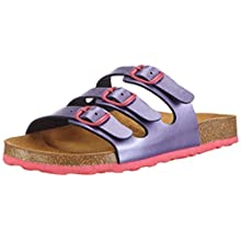 Lico Girls' Bioline Kids Slippers, Purple (lila/pink), 28 EU