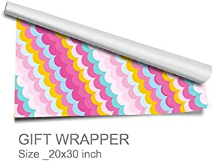"""Artemisia-Gift Wrappers-Pink Semi Circle-Pack of 10-Size-20""""30"""
