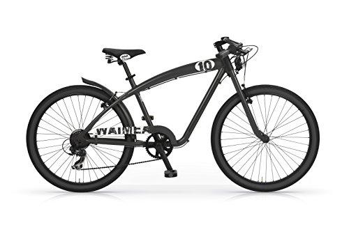 Bicicletta-MBM-Waimea-Cruiser-sportiva-da-uomo-telaio-in-lega-di-alluminio-Nera