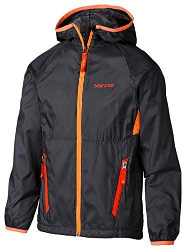 marmot-ether-bambina-giacca-con-cappuccio-scuro-acciaio-arancione-brillante-orange-s