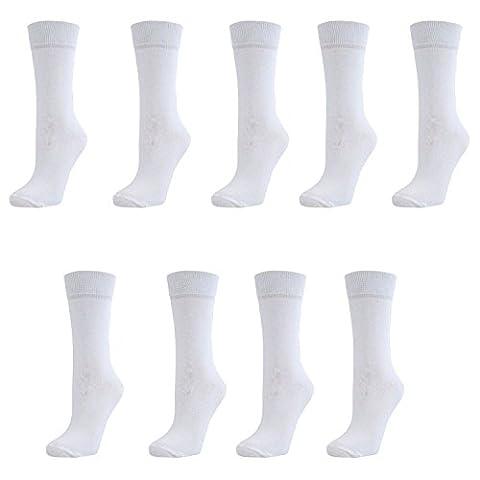 Ladies Plain Coloured Ankle Socks White (9 Pack)