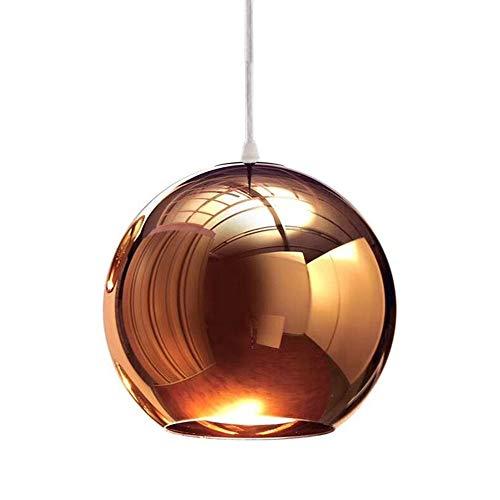 Moderne Mini Globe Pendelleuchten verstellbar Spiegel Nordic Ball Shade Hänge Deckenlampe Kronleuchter für Esszimmer Finish Kupfer 15cm - Taos Spiegel