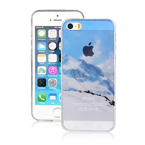 MOONCASE iPhone 5 Coque, Ultra Mince Motif Etui TPU Silicone Antichoc Housse Case pour iPhone 5 / 5s / SE (Paysage 10) Paysage 20