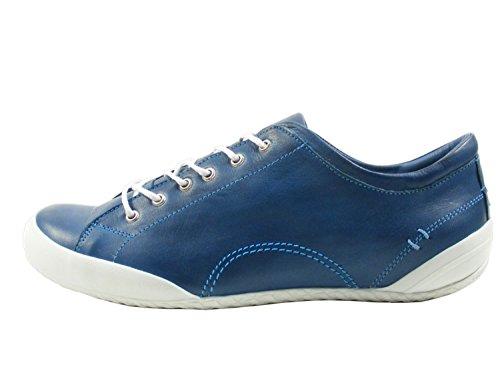 Andrea Conti Sneaker 0340559 Damen Leder Halbschuhe Schnürer, Schuhgröße:40;Farbe:Blau