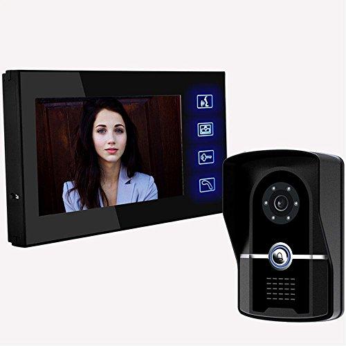 Thinp-Trsprechanlage-Video-Berhrungsempfindlicher-Bildschirm-Tempered-Glass-absolut-wasserfest-mit-Funktion-von-Video-Nachtsichtberwachung-GegensprechanlageFreischaltenKlingeltonauswahl-Lagerbestndigk