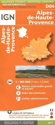 D04 ALPES-DE-HAUTE-PROVENCE 1/150.000