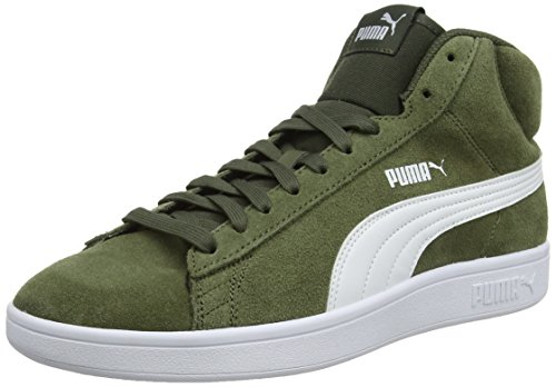 Puma smash v2 mid sd, sneaker a collo alto unisex – adulto, verde (forest night white 03), 42.5 eu