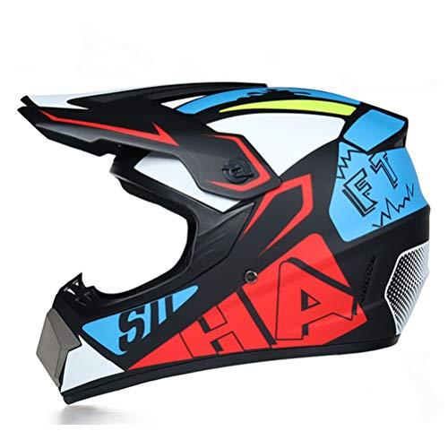 Generic Männer Moto Helm Downhill Fahrradhelm MTB ABS Rmotorcycle Helm Classic Fahrrad DH Racing Helm Motocross Helm - Mohawk Helm Fahrrad
