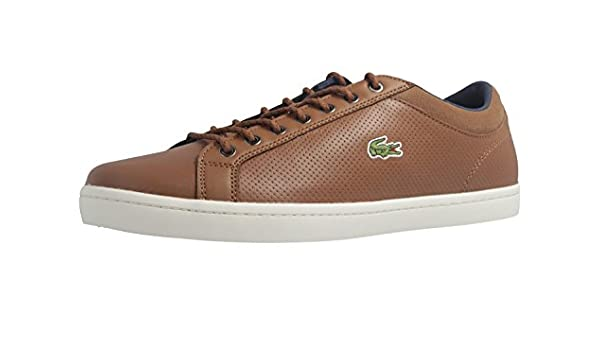 14de8610e Lacoste Straightset SP 317 1CAM Trainers in Brown 734CAM0063 078  UK 6 EU  39.5   Amazon.co.uk  Shoes   Bags