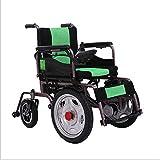 GX-Wheelchair Sedia a Rotelle Elettrica Pieghevole/Cura a Quattro Ruote Arrampicata Intelligente Senza Funzione di Slittamento Sedia a Rotelle Elettrica