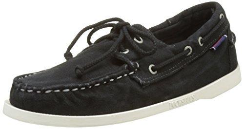 Sebago Docksides, Chaussures Bateau Homme Noir (Black Canvas)