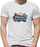 Ohana Means Family Lustiges Herren T-Shirt - Weiß - XL