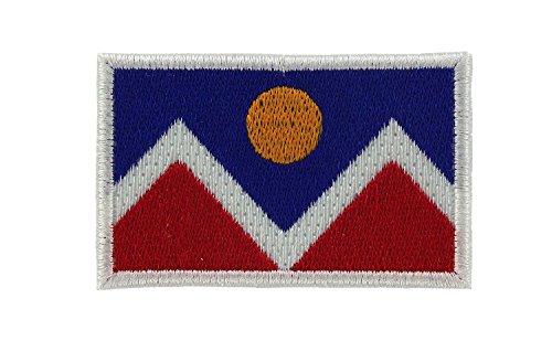 Patch Ecusson-gesticktem Flagge Denver USA zum Aufbügeln - Souvenirs Denver