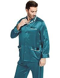 9e4521b068 LilySilk Silk Pajamas Set for Men Summer 22 Momme Most Comfortable Sleepwear