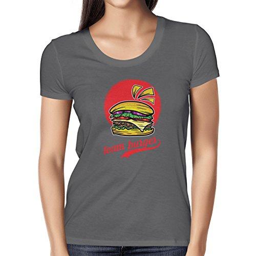 TEXLAB - Team Burger - Damen T-Shirt Grau