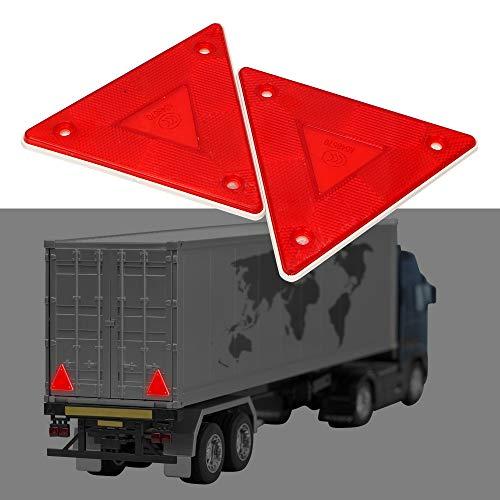2 Stücke Reflektierende Schild Rotes Dreieck Warnung Reflektor Stop Warnschild Sicherheit LKW Platte Rücklicht - Reflektor-schild