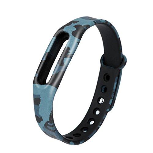 Ouneed Für Xiaomi Mi Band 1S Armband , Camouflage Colorful Pattern Strap WristBand Armband Ersatz für Xiaomi MI Band 1S (B)