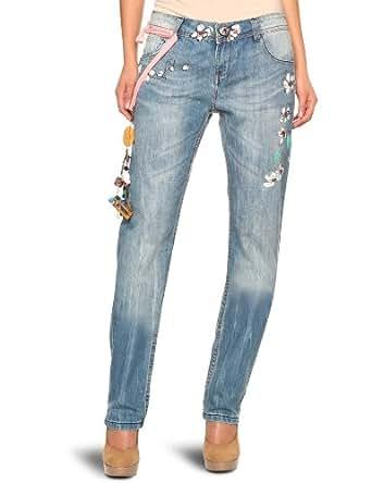 desigual damen jeans 20d2677 gr 34 blau. Black Bedroom Furniture Sets. Home Design Ideas
