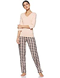 Amazon Brand - Eden & Ivy Women's T-Shirt & Pyjama Set Pyjama