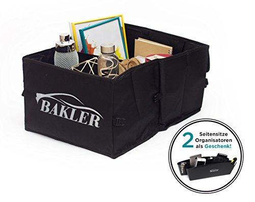 BAKLER-Flach-faltbare-Kofferraumtasche-GRATIS-2-Autositz-Seiten-Schlitz-Taschen-Auto-Faltbox-Aufbewahrung-Gepckfixierung-Kfz-Kiste-fr-Verbandskasten-Warnweste-Reinigungs-Utensilien-berbrckungskabel