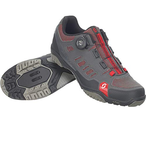 Scott Herren Crus-R Boa Mountainbike Schuhe, Grau (Anthracite/Red 001), 41 EU