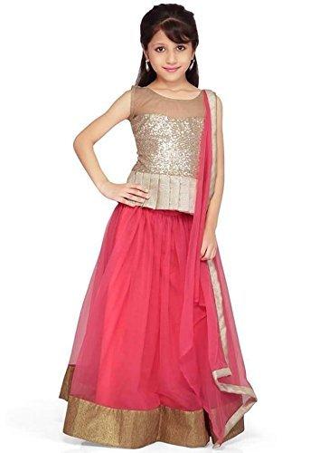 FenaPrime Women\'s Pink Brasso Lehenga Chaniya Choli Dupatta FP1167