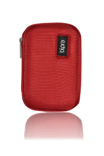 Bipra Protective EVA Case for 2.5 inch WD/Seagate/Toshiba/Clickfree/Portable External Hard Drives - Red