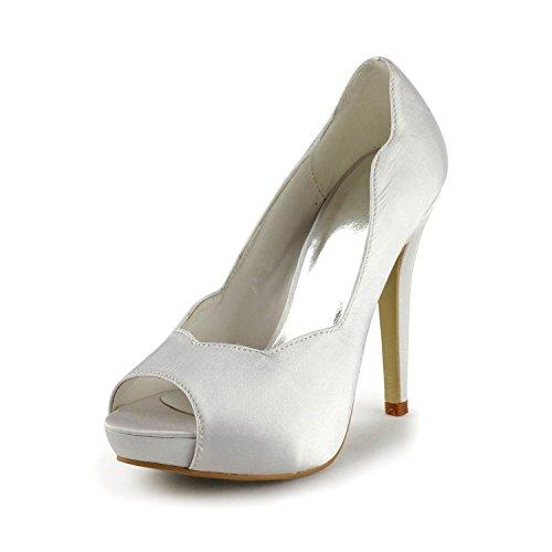 Miyoopark , Semelle compensée femme White-11.5cm Heel