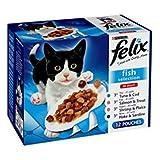 Felix Erwachsene Tasche Fisch Select Katze Lebensmittel 100gm 12Pack