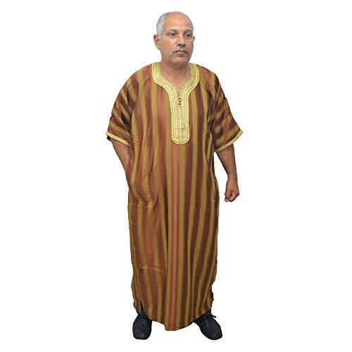 Chilaba djelaba túnica caftán árabe Modelo Marroquí, Egipto, etc. de satén y algodón. (70 cm Ancho x 145 cm Largo)