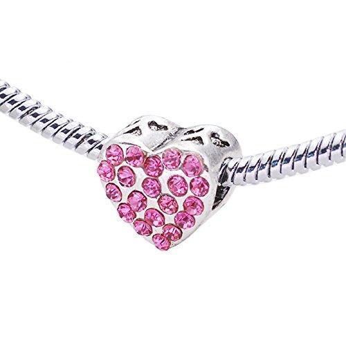 Swarovski Elementos Cristal Corazón Amor barato Bead con ángel se ajusta Pandora...