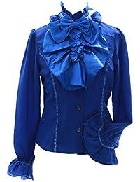 Kawaii JL de 560 Azul Vintage Lazo Blusa Gasa Gothic Lolita Cosplay Story