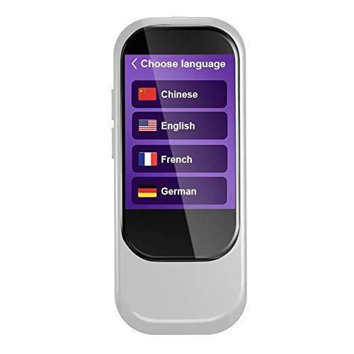 SODIAL Tragbar N9 2,4-Zoll-Touchscreen Smart 4G Wifi Global Online 28 Sprachen Echtzeit Sprachuebersetzer Simultanuebersetzung Synchron uebersetzer Silber