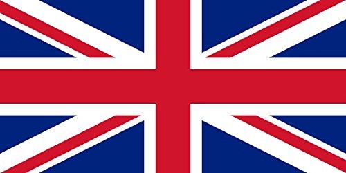 Union Jack Flagge, 152 cm x 91 cm groß - 100% Polyester - metallische Nestellöcher, zwiegenäht Großbritannien / Britische / Königliche Flagge/ London Fußball Party / Partys Perfekt für Außen- und Innenanwendung! Ein unvergessliches und stilvolles britisches Souvenir