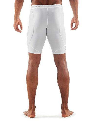 Skins Herren Dnamic Half 1/2 Tights White