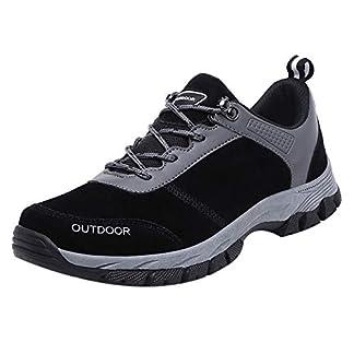 Zapatos de Senderismo para Hombre Zapatillas Deportivas Trabajo Deportes al Aire Libre Calzado de Senderismo Punta Redonda Casual Zapatilla Reforzada y Fuerte Zapatos Hombre