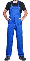 Arbeitslatzhose Herren, Arbeitshose - made in EU - latzhose arbeits latzhose (M, Blau)