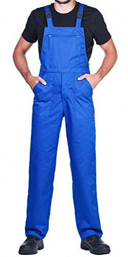 Arbeitslatzhose Herren, Arbeitshose - made in EU - latzhose arbeits latzhose (L, Blau)