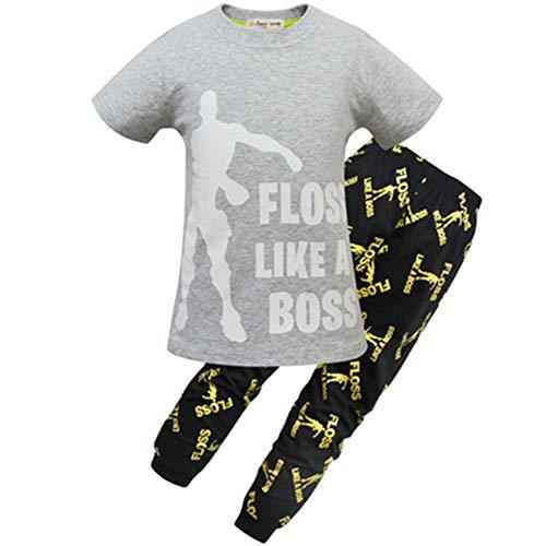ALAMIng - Pijama Dos Piezas - para niño Gris Gris 160 cm