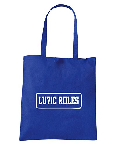 T-Shirtshock - Borsa Shopping TUM0198 lulic rules Blu Royal