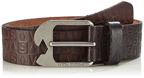 Volcom Herren Gürtel Stamp Leather Belt, Brown, 36, D5911648BRN