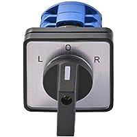 Kreema AC 690V LW26 20A 3 posiciones LOR Interruptor de conmutación universal Selector rotativo Cam Panel de control de 8 terminales