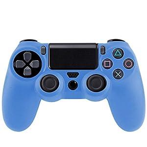 wortek PS4 Controller Hülle Silikon Skin Schutzhülle Sony Playstation 4 Anti-Rutsch Bumper ergonomisches Gummi Sleeve Perfekter Grip für DualShock Gamepad Schutz für PS4 / PS4 Pro / PS4 Slim Pad